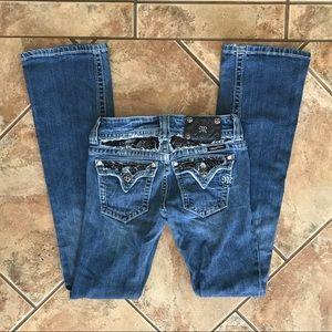 Miss Me Lace Detail Bootcut Jeans